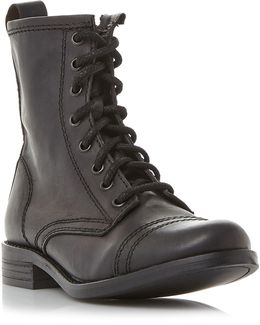 Charrie Lace Up Biker Boots