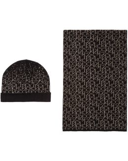 Logo Hat And Scarf Gift Set