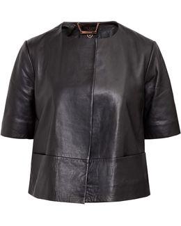 Losimia Short Leather Jacket