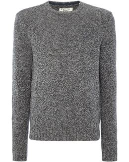 Mouline-lambswool Crew-neck Knitted Jumper
