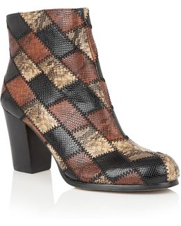 Laura Animal Print Ankle Boots