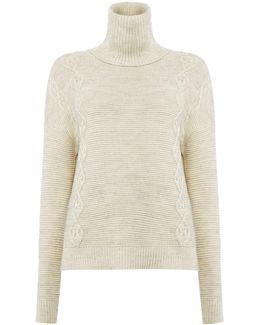 Long Sleeve Ribbed Roll Neck Jumper