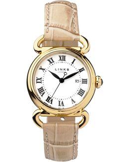 Driver Round Womenstan Leather Watch