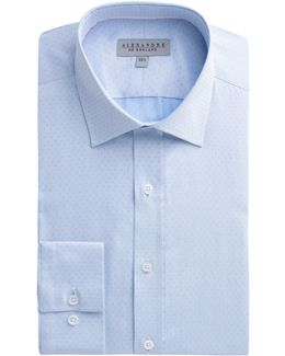 Blue Spot Jacquard Shirt