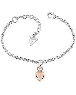 Y Little Heart Charm Bracelet
