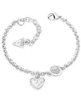 Heart Devotion Sparkle Coin Bracelet