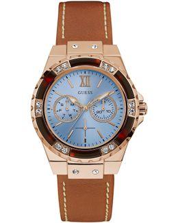 W0775l7 Ladies` Leather Sport Watch