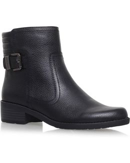Lanette Flat Biker Boots