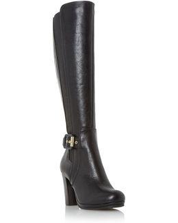Scout Buckle Detail High Leg Boots