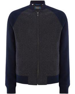 Wool-blend Varsity-jacket