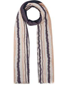 Lena Tye Dye Stripe Print Scarf