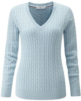 Sophia Cable V Neck Knit