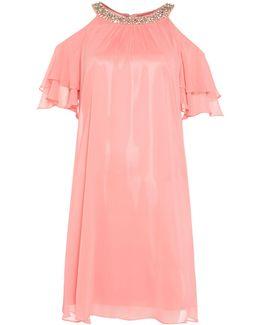 Sleeveless Beaded Halter Dress