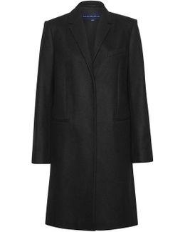 Platform Felt Wool Coat