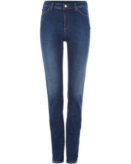 J18 Dahlia High Rise Slim Jean In Denim Indaco
