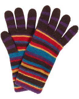 Striped Cotton Gloves