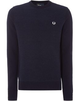 Crew Neck Textured Rib Jumper