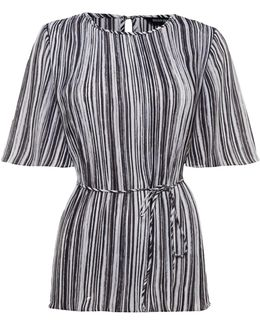 Pleated Stripe Top