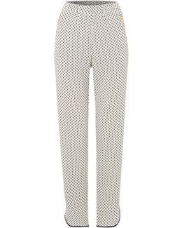 Printed Luxe Pyjama Style Trousers