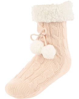 Grey Super Soft Slipper Socks