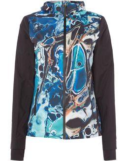 Blue Lagoon Print Shower Proof Jacket