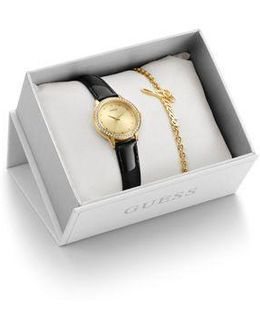 Ladies` Watch And Bracelet Gift Set