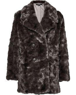 Nariko Fur Double Breast Coat
