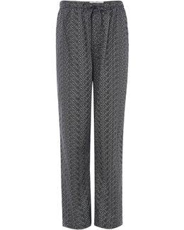 Woven Chevron Logo Pyjama Pants