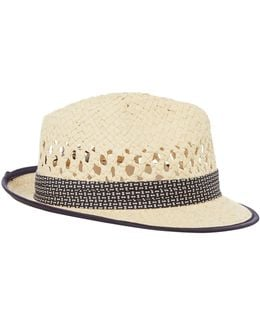 Straw Woven Trilby Hat