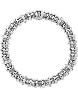 Sweetheart Silver & White Topaz Bracelet