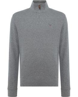 Honey-comb Half-zip Sweatshirt