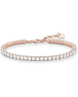 Rose Gold Zirconia Tennis Bracelet