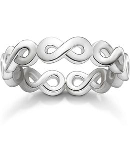 Glam & Soul Silver Infinity All Around Ring