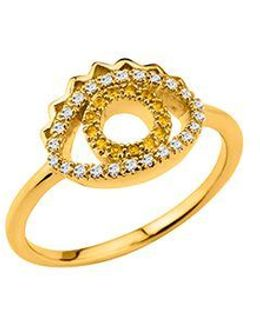 24134010305 Gold Plated & Cz Ring