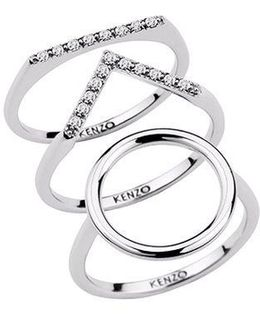 24909110805 Sterling Silver And Cz Ring