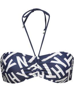 Kiara Logo Bandeau Bikini Top