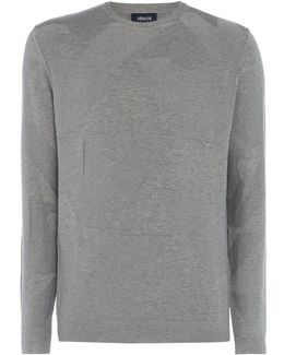 All Over Eagle Textured Crew Neck Jumper