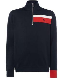 Neoprene Stripe Half Zip Sweatshirt
