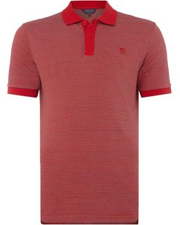 Birdseye Texture Short-sleeve Cotton Polo-shirt