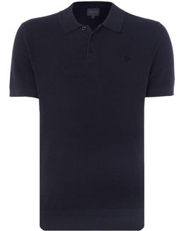 Textured Knitted Polo-shirt