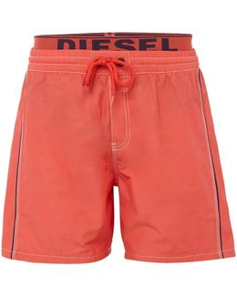Double Waistband Swim Shorts