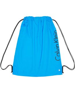 Neon Placed Logo Drawstring Gym Bag