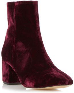 Pebble Low Block Heel Ankle Boots