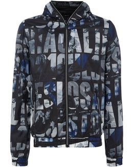 All-over Printed Zip-up Hoodied Jacket