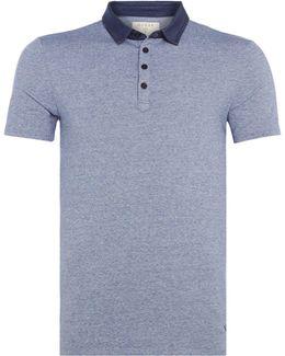 Contast Collar Short-sleeve Polo Shirt