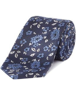 Adelong Small Floral Print Tie