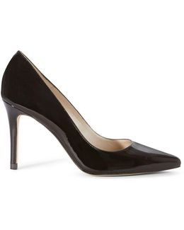 Patent Leather Pointed Toe Court Pumps