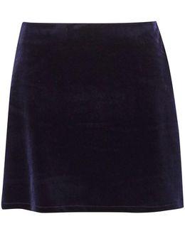 Amber Velvet Mini Skirt