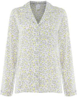 Leopard Print Pyjama Shirt