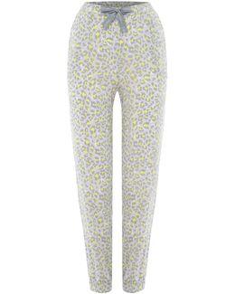 Leopard Print Cuffed Pyjama Pant